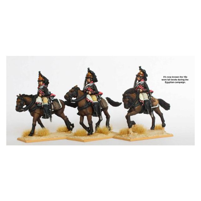 15th Dragoons in tall boots, galloping swords shouldered