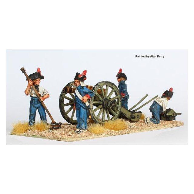 Foot artillery loading 8pdr in hats