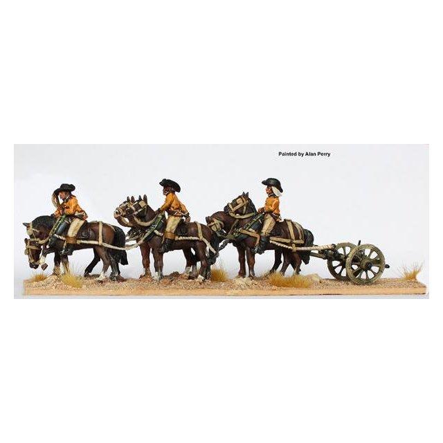 6 horse limber standing (no gun)