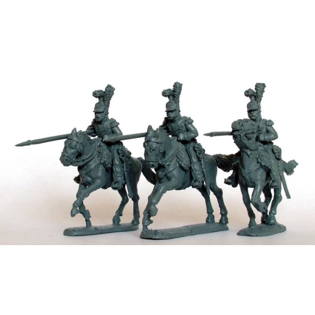 Light Horse Lancers of the Line charging, couched lannces, Elit