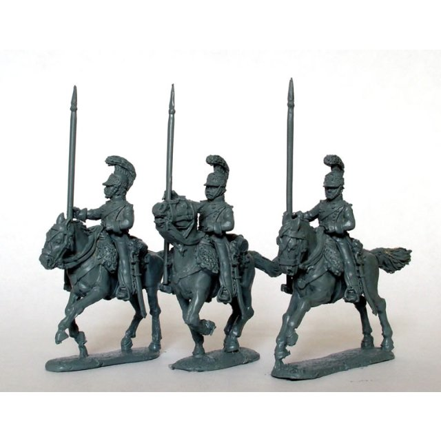 Light Horse Lancers of the Line, lances up-right, galloping