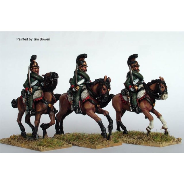1st Chasseurs a Cheval galloping , swords shouldered