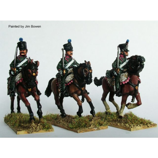 Chasseurs a Cheval galloping , swords shouldered