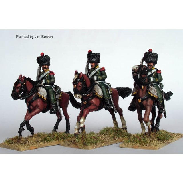 Chasseurs a Cheval galloping,shouldered swords, Elite Coy, colp