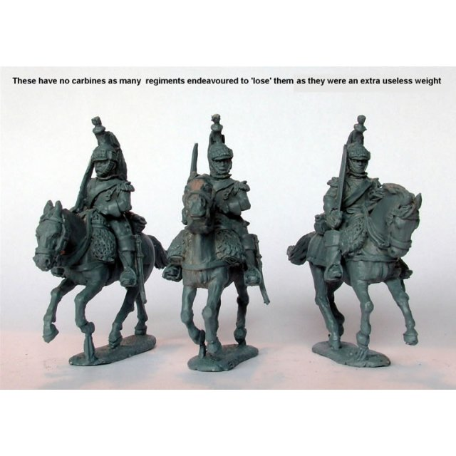 Cuirassiers galloping swords shouldered