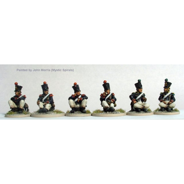 Young Guard, Voltigeurs/Tirailleurs sitting on their packs
