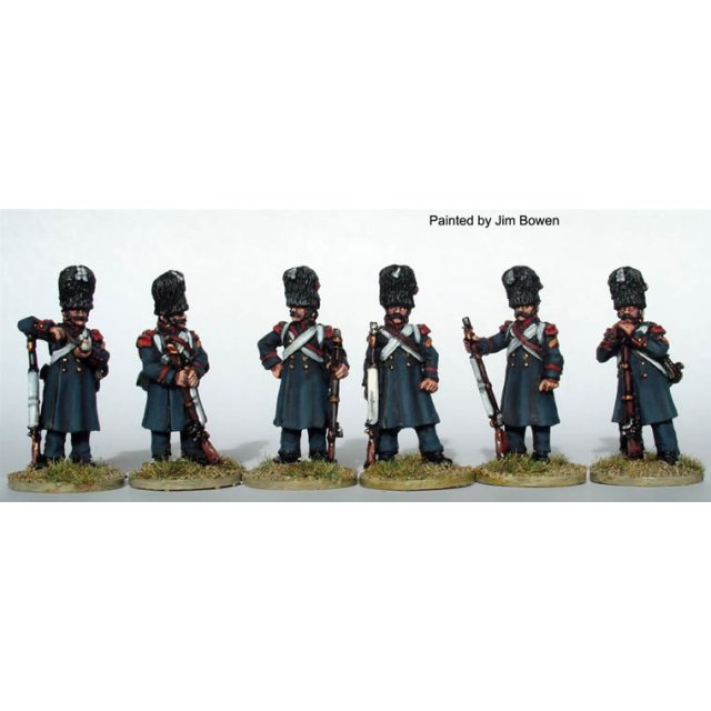 Chasseurs a Pied of the Imperial Guard in greatcoats ,standing