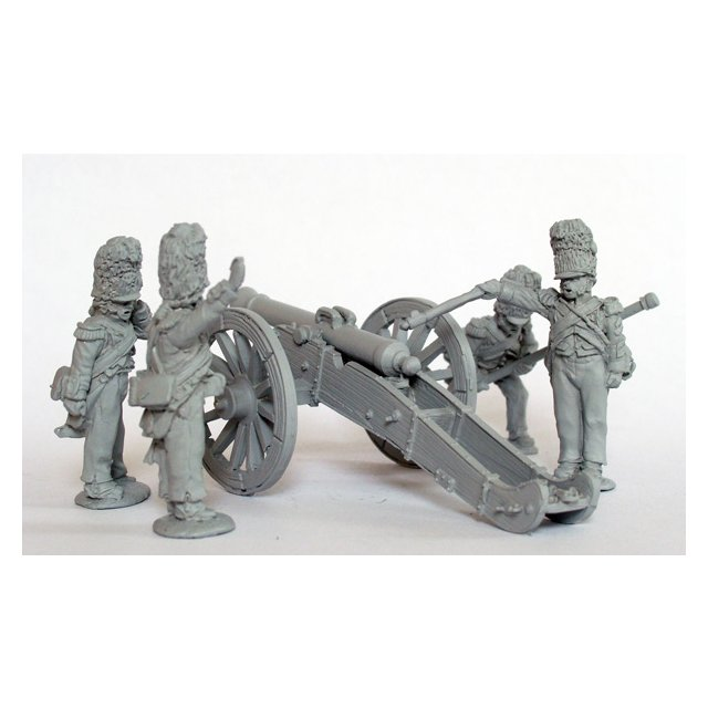 Foot Artillery of the Imperial Guard firing 12 pdr
