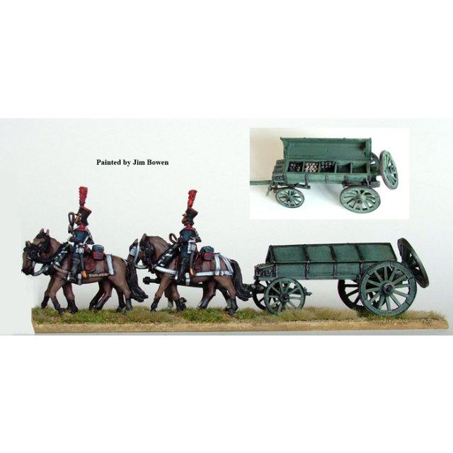 Guard 4 horse ammuniton caisson, walking