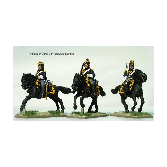 Grenadiers a Cheval of the Imperial Guard galloping, bonnet de p