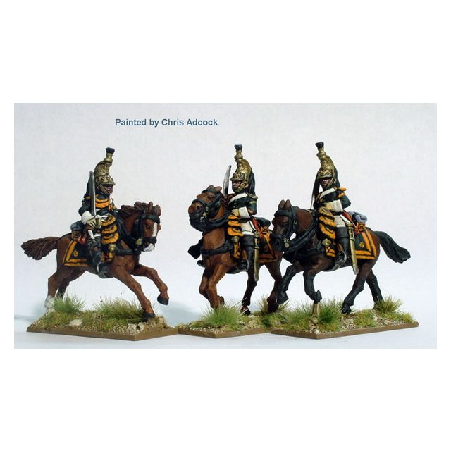 Dragoons of the Imperial Guard galloping , Minerva helmets