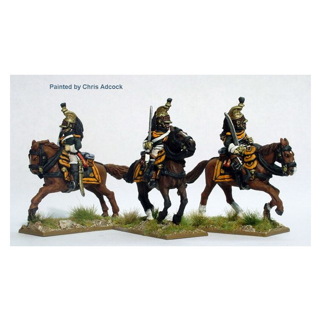 Dragoons of the Imperial Guard galloping ,  helmets of the Ancie