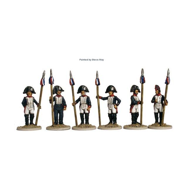 Paris National Guard of 1814 pikemen, standing