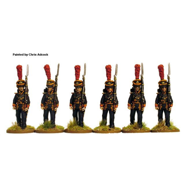 French Sailors of the Imperial Guard , full dress, marching