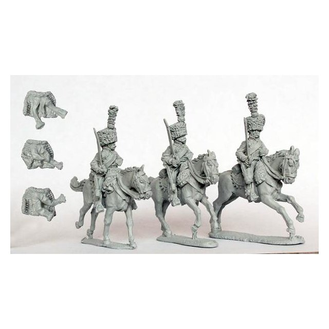 Hussars Elite company in campaign dress and colpacks (separate p