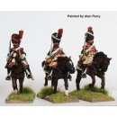 Dragoon Elite company in bearskins, shouldered swords,...