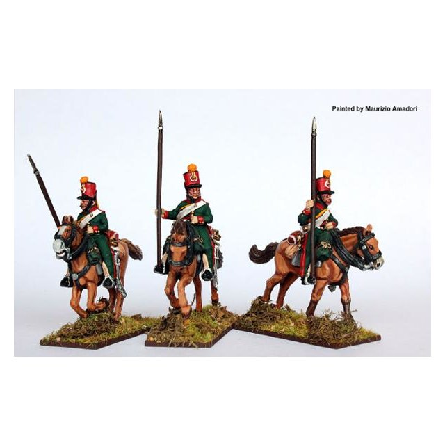 2nd Eclaireur regt. (Young Guard) galloping , lances upright, 18