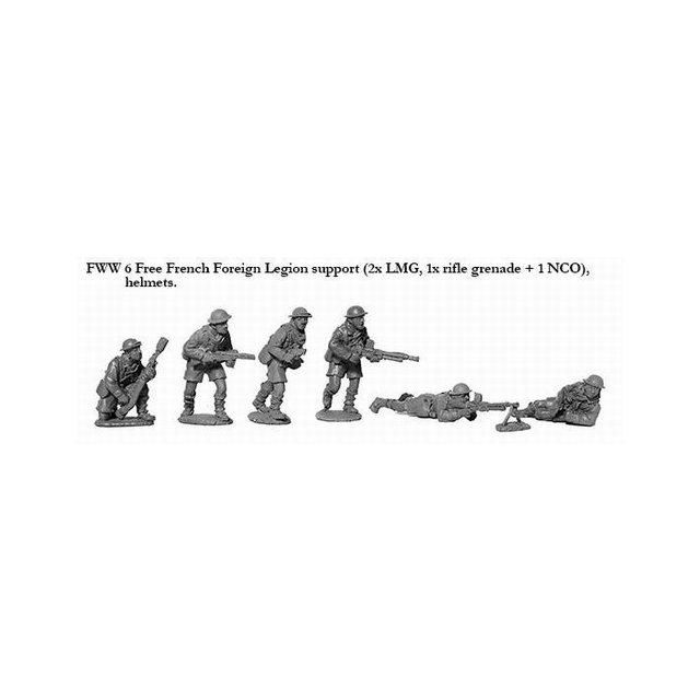 French Foreign Legion LMGs ,helmets.