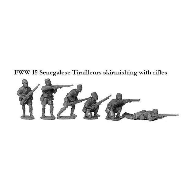 Senegalese Tirailleurs skirmishing with rifles