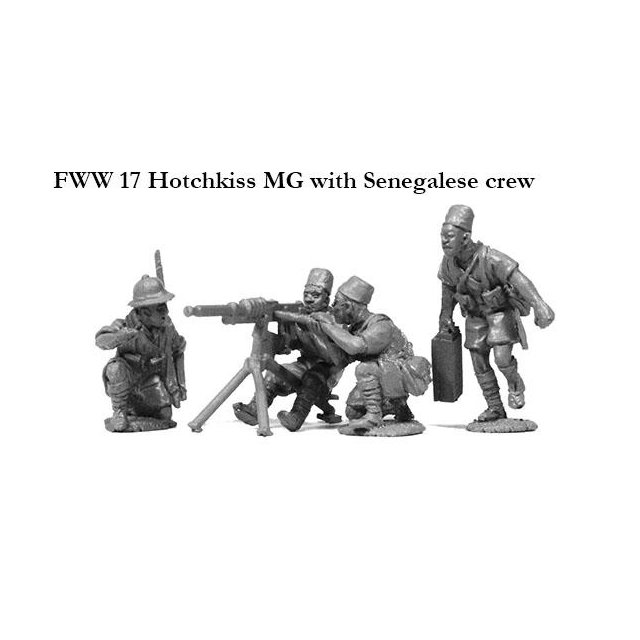 Hotchkiss MG with Senegalese crew