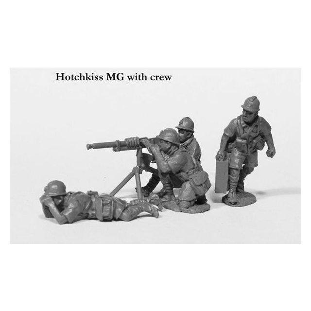 Vichy Hotchkiss MG and crew