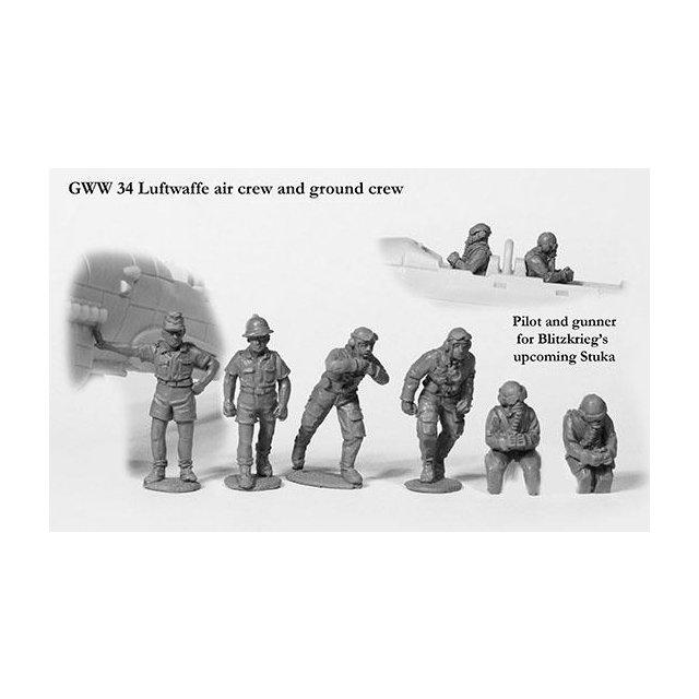 Luftwaffe air crew and ground crew