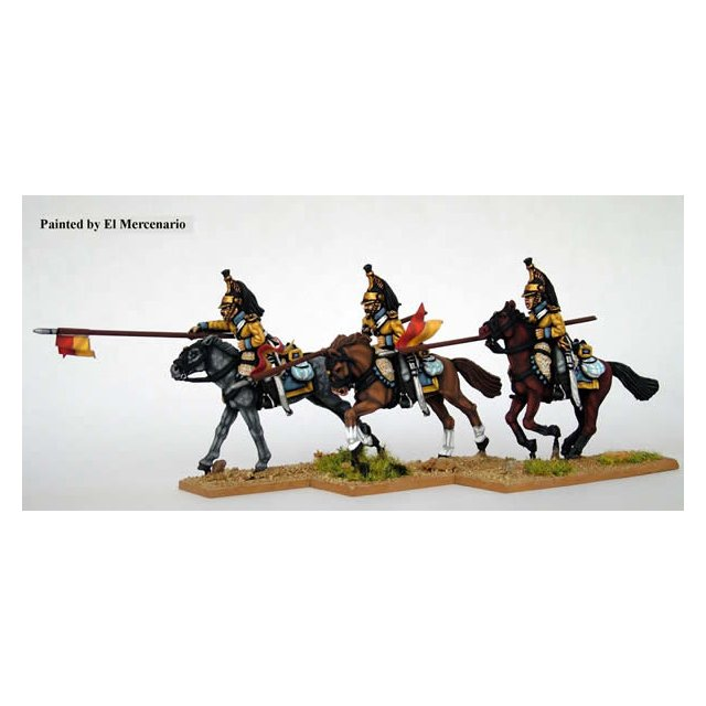 Line Cavalry, charging with lance