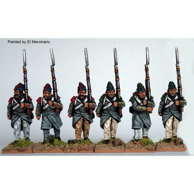 Infantry marching, flank co, greatcoats and &#39Isabellino&#39 c