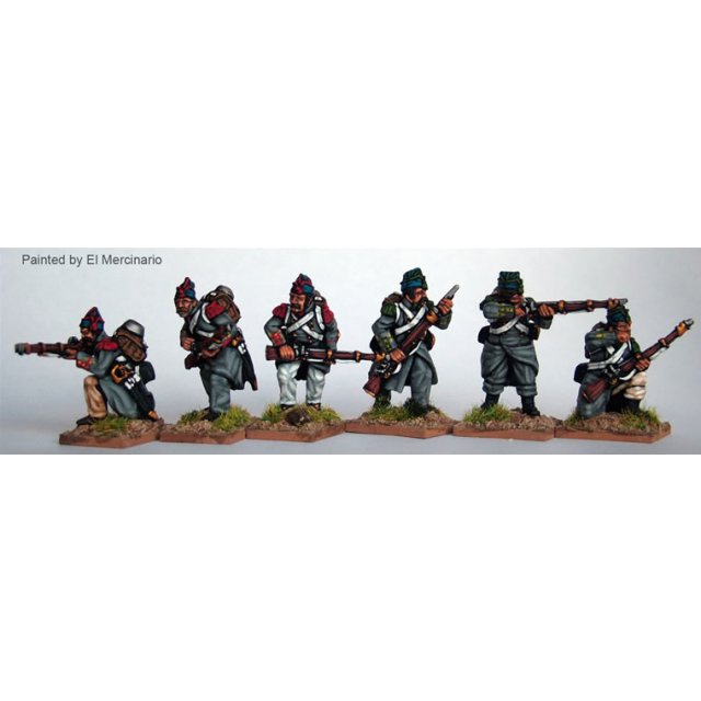 Infantry skirmishing, flank co, greatcoats and &#39Isabellino&#3