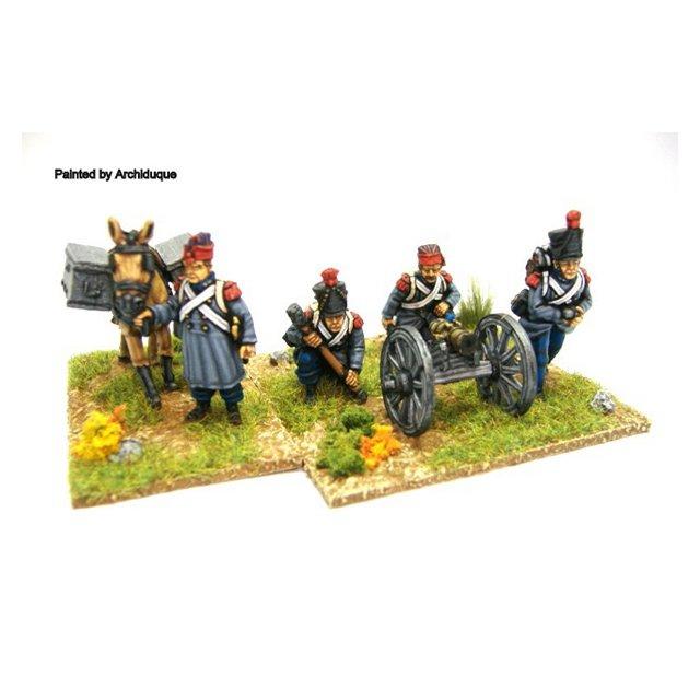 """3"""" mountain gun/ 4""""howitzer (gun, 4 crew + ammo mule"""