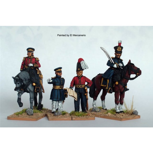 BAL Staff (2 mounted and 2 foot officers)