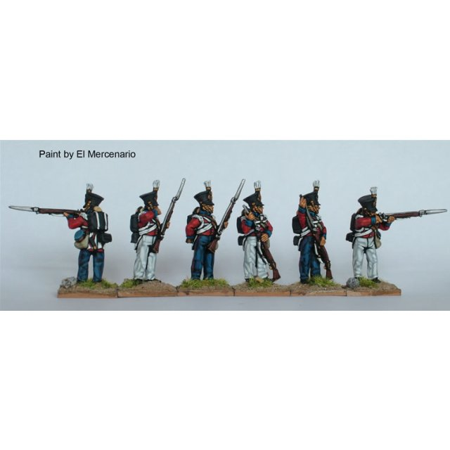 BAL flank companies, firing line, shakos