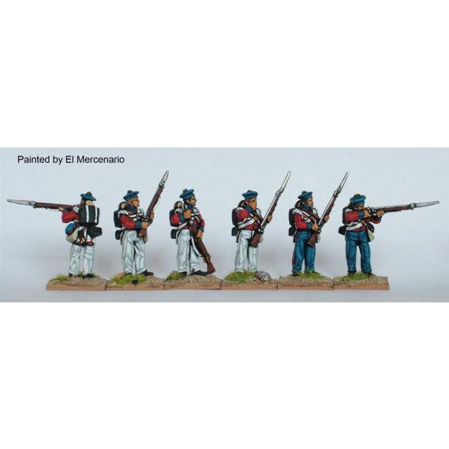 BAL flank companies, firing line, forage caps