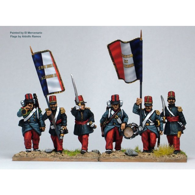 French Foreign Legion command marching/advancing