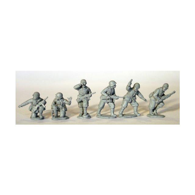 Italian Platoon command, steel helmets