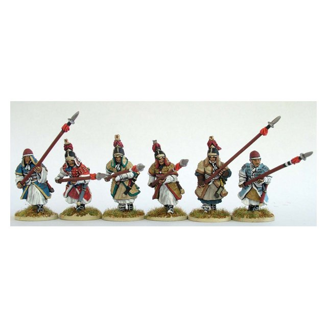 Heavy infantry advancing/charging with long spear