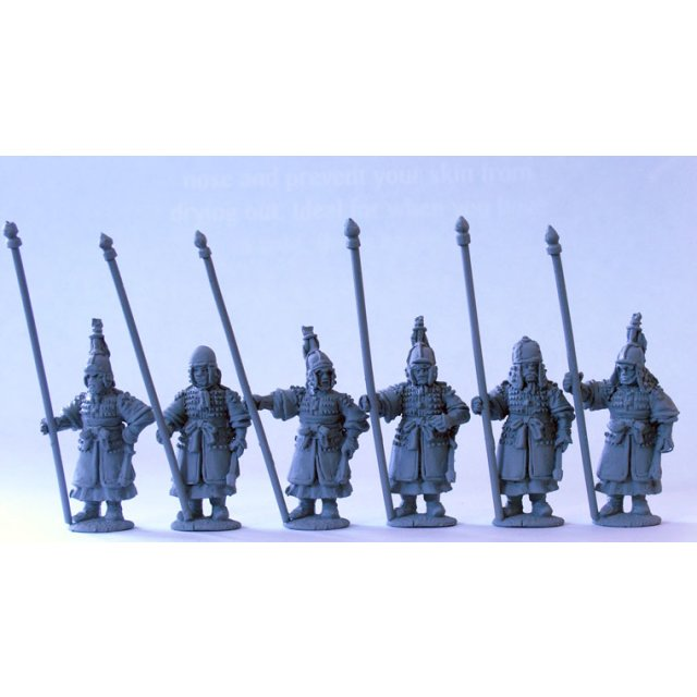 Armoured spearmen/standard bearers