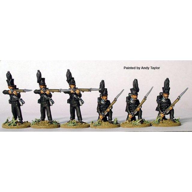Leib-Battalion, firing line (3 kneeling, 3 standing firing)