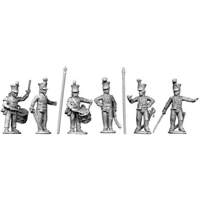 Line command, standing (2 Officers, 2 Standard bearers, 2 Musici
