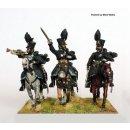 Hussar command charging (officer, musician, sergeant)