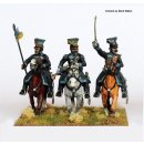 Uhlan command charging (officer, musician, sergeant)