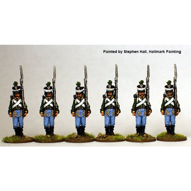Saxe-Coburg voltigeurs marching