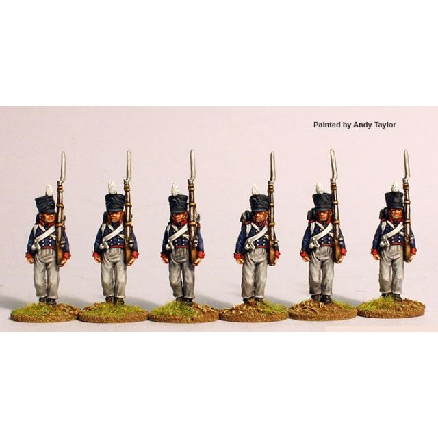 (7th regt.) Mecklenburg-Schwerin musketeers marching, campaign d