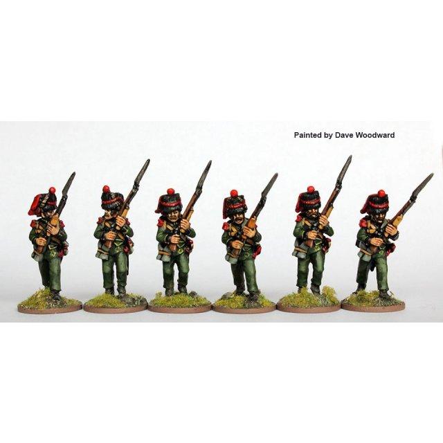 2nd Nassau-Usingen regt. Grenadiers advancing, high porte