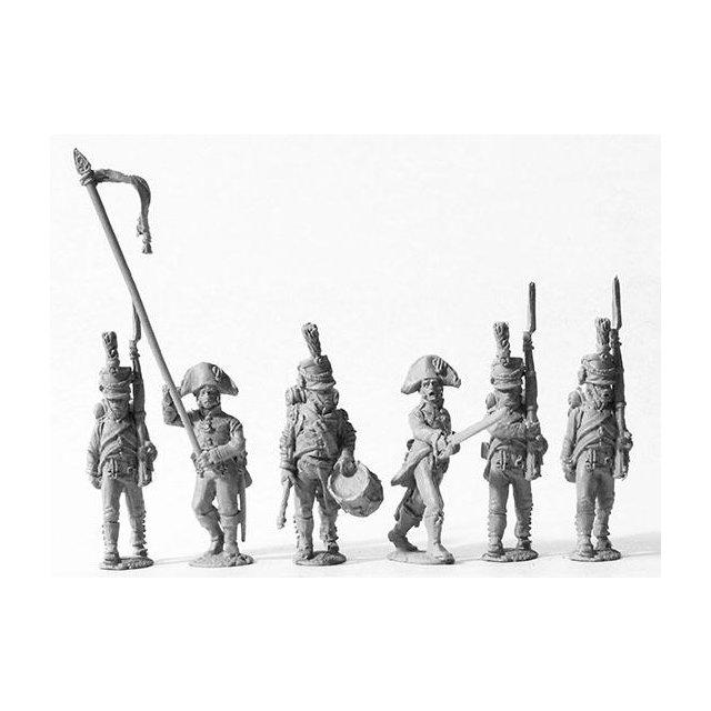 2nd and 4th battalions v. Kruse and v. Holbach, command (shako)