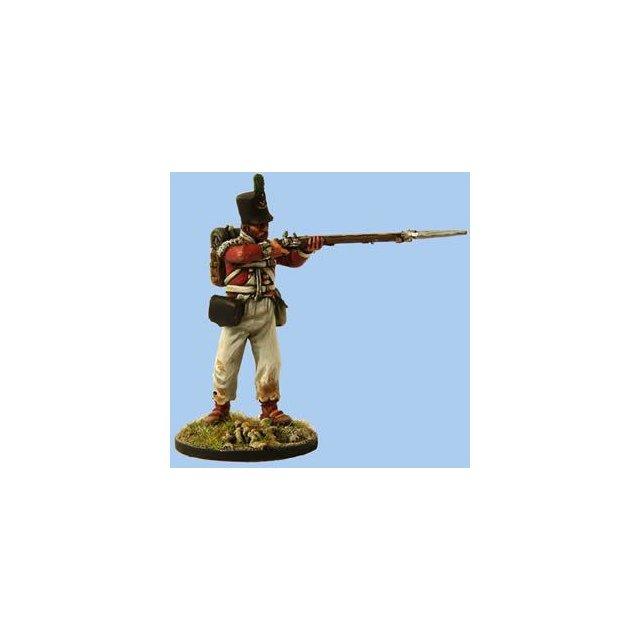 British Light Infantryman firing , New Land Pattern musket,Spani