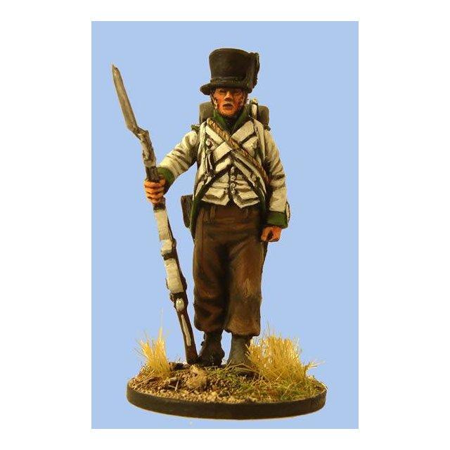 Lippe-Detmold Fusilier in Spanish overalls standing easy