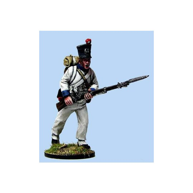 French Fusilier charging , sleeved waistcoat (4 head variants)