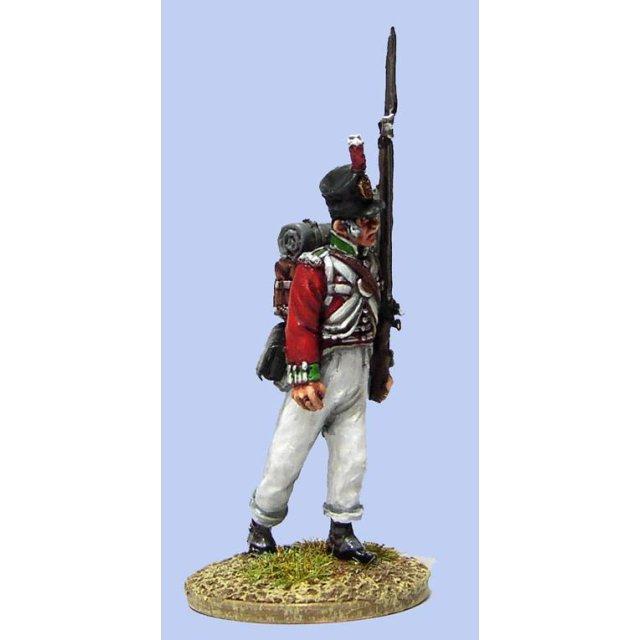 British Line Infantryman, advancing , slouldered arms ( 4 head v