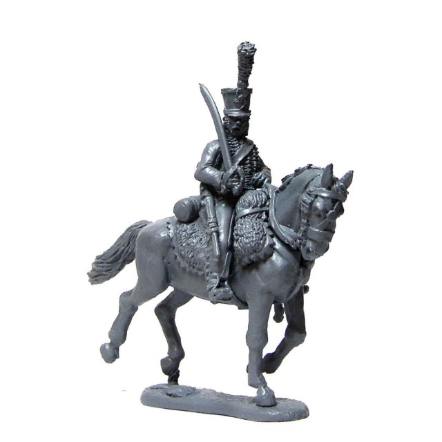 French Hussar,sword shouldered,cantering horse (4 centre company